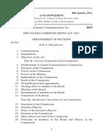 The Uganda Communications Act, 2013