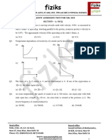 Iit-jam Physics 2015 Paper