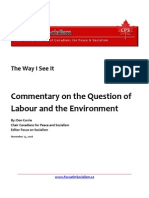 Commentary on the Question of Labour and the Environment