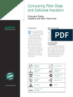 NAIMA BI475 Comparing Fiber Glass and Cellulose Insulation