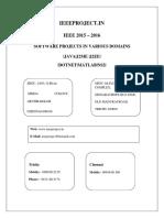 fIEEE 2015 2016 Software Project Title List for ME M.tech B.E B.tech Mphil MCA