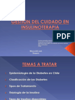 Gestión de Enfermería en Insulinoterapia