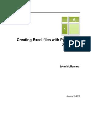XlsxWriter | Chart | Microsoft Excel