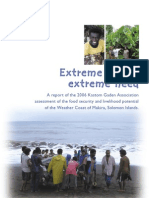 Extreme Living, Extreme Need - Solomon Islands