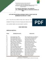 Acta eleccion Representantes de Curso