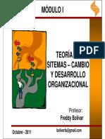 teoría de sistemas Cambio y desarrollo organizacional 111016201315 Phpapp02