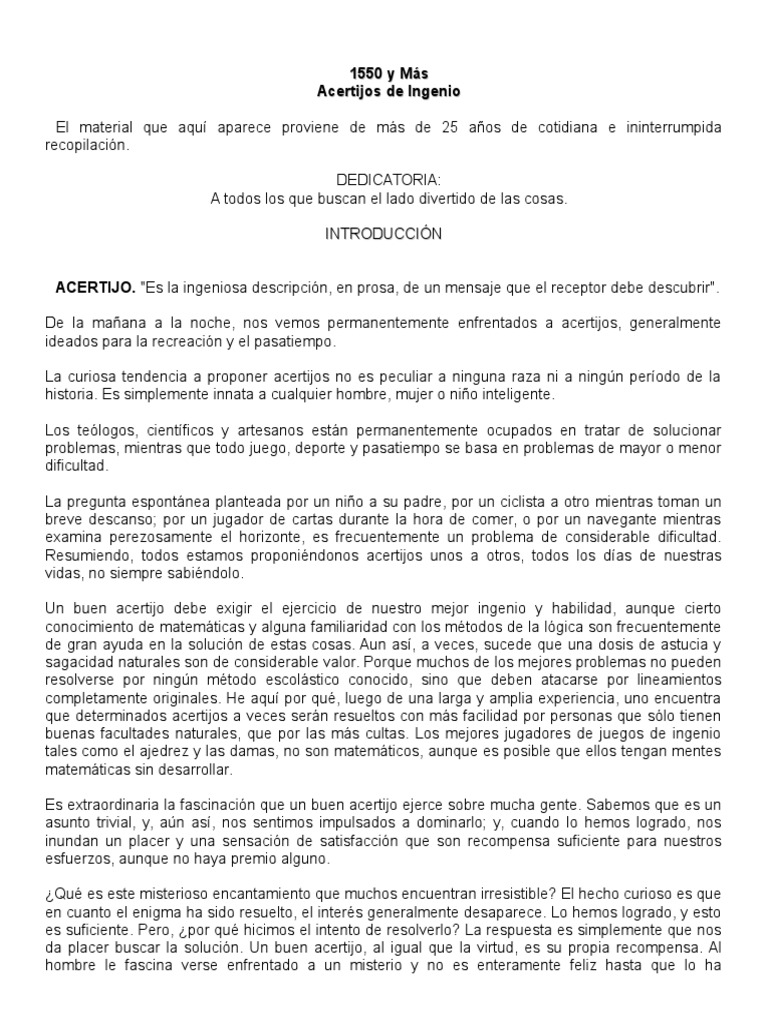 Hermosa Hojas De Trabajo De Adivinanzas Para La Escuela Media ...