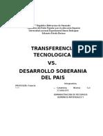 Transferencia Tecnologica vs Desarrollo Soberania Del Pais