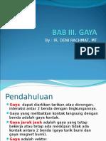 Bab III Gaya