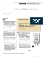 Synthetic Colloid Fluids & Volume Expansion