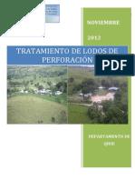 Procedimiento de Filtracion y Tratamiento de Lodos