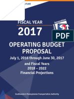 2017 Operating Budget Proposal
