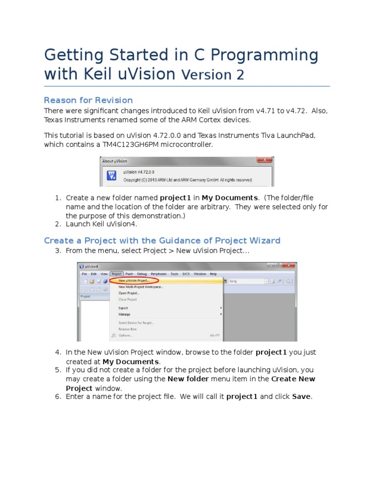 Keil C Project Tutorial v3 | Computer File | Control Flow