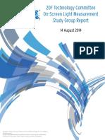 20F TC on Screen Light Measurement SG Report Aug 2014 FINAL v2