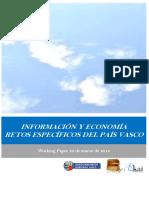 INFORMACION Y ECONOMIA. RETOS ESPECÍFICOS DEL PAIS VASCO