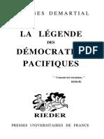 Georges Demartial - La Légende Des Démocraties Pacifiques