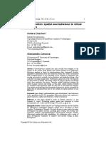 Evaluating Motion Spatial User Behavior in Virtual Environments