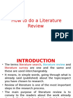 Lecture 3(Unit1)-Review of Literature
