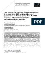 An a Multi-Dimensional Health Assessment Questionnaire (MDHAQ) and Routine Assessment of Patient Index Data (RAPID) Scores Be Informative in Patients With All Rheumatic Diseases
