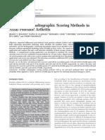 Reliability of Radiographic Scoring Methods InAxial Psoriatic Arthritis