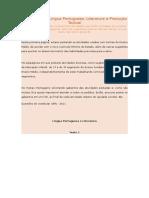 Atividades de Língua Portuguesa - 1 EM