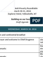 Agenda - 3rd NWT Anti-Poverty Roundtable