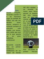 Mi Historia en El Futbol Terminada y Mejorada Para Montarla