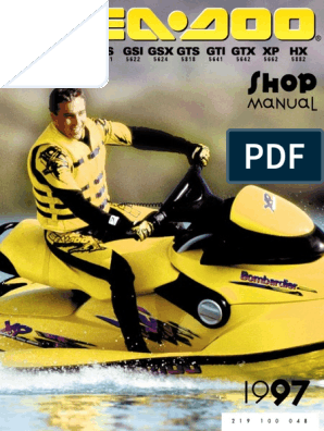 1997 SeaDoo Shop Manual | Carburetor | Leak