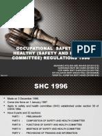 OSHA (SHC) Regulations 1996