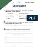 Ficha Emocionario Aceptación UNIDAD 13