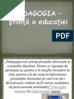 Suport Pedagogie