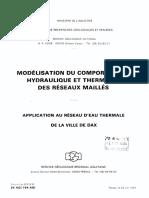 Hydraulique - Reseau Maillé