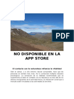 No Disponible en La App Store