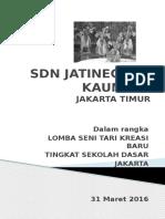 Lomba Tari oleh SDN Jatinegara Kaum 11