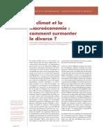 Le climat et la macroéconomie