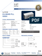 Norsat Ku-band LNB 1000h_lnb1 Data Sheet