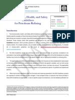 Petroleum Refining EHS Guideline 2nd Consult Comparison 2007vs2016