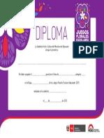 Diploma Juegos Florales 2015 Copia