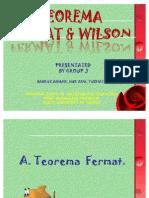 Presentasi Teorema Fermat Dan Wilson Ok