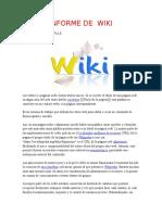 Informe de Wiki