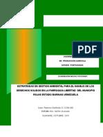 ESTRATEGIAS DE GESTION AMBIENTAL PARA EL MANEJO DE LOS DESECHOS SOLIDOS EN LA PARROQUIA LIBERTAD  DEL MUNICIPIO ROJAS ESTADO BARINAS-VENEZUELA