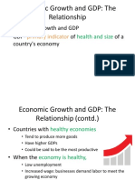 Realationship of Economic Growth & GDP