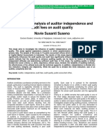 An Empirical Analysis of Auditor Independence and Audit Fees on Audit Quality
