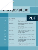 Interpretation - Political Philosophy Journal - Heidegger's Secret Resistance