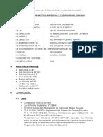 Plan Anual de Gestion Ambiental