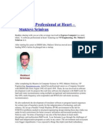 A Software Professional at Heart - Srini