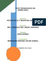 Emulsiones (Petrofisica y Registro de Pozos)