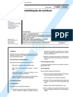 NBR 10006 - Solubilizaçao de Resíduos