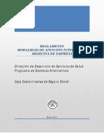 Reglamento Medicina Empresa Aprobado 2014