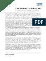 160329 NdP Camposol Migra a La Plataforma SAP HANA Con IBM